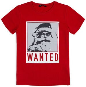 Luca & Lola T-Shirt Wanted Santa, Tango Red