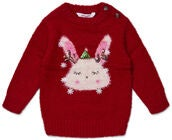 Luca & Lola Baby Tröja Winter Bunny, Red