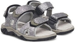Little Champs Race Glitter Sandaler, Silver