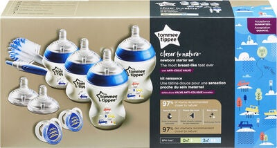 Tommee Tippee Closer to Nature Startkit Flaska, Blå