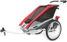 Thule Chariot Cougar 2 Red inkl. Cykelkit