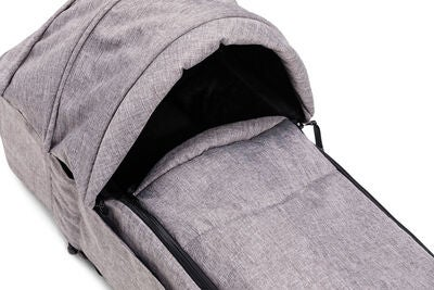 Beemoo Mjuklift Fleece m Sufflett, Grey Melange