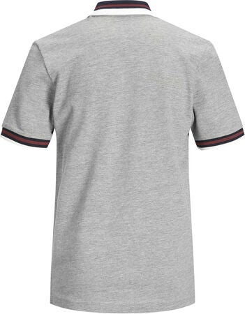 Jack & Jones Dusai Polotröja, Light Grey Melange