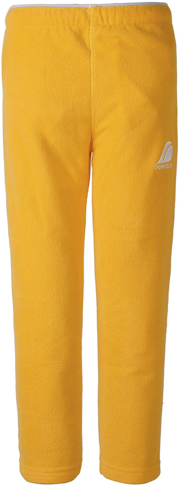 Didriksons Monte Fleecebyxa Oat Yellow 140