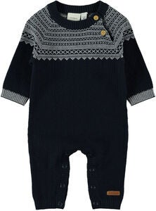 Name it Sohar Stickad Jumpsuit, Dark Sapphire