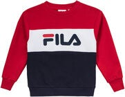 FILA Night Blocked Crew Tröja, Black Iris