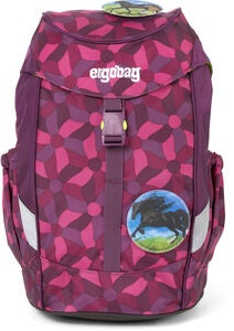 Ergobag Mini NightcrawlBear Ryggsäck 10L, Flower Wheel Purple
