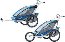 Thule Chariot CX2 Blue med Jogging & Cykelkit