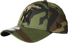 New Era Kids Keps, Woodland Camo Black