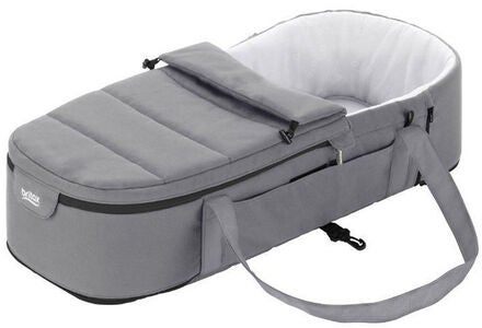Britax GO BIG Mjuklift Soft Carrycot, Steel Grey