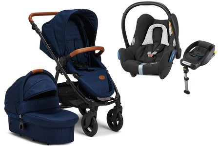 Petite Chérie Heritage 2020 Duovagn inkl. Travelsystem Maxi Cosi, Navy/Black