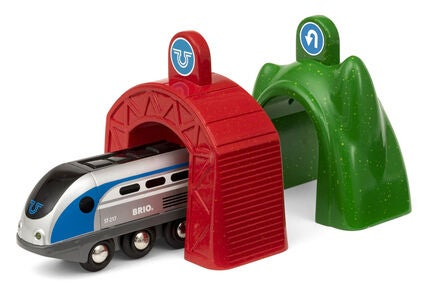 BRIO World 33834 Smart Tech Lok med Action-Tunnlar