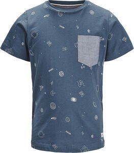 PRODUKT Space Aop T-Shirt, Blue Wing Teal