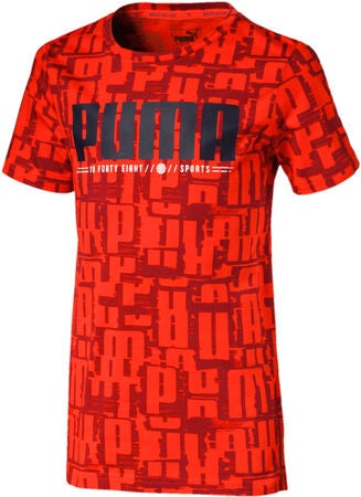 Puma Active Sports Aop T-Shirt, Red