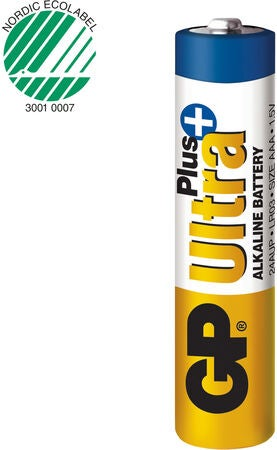 GP Batterier Ultra Plus Alkaline AAA 4-pack