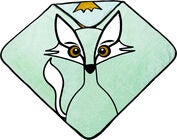 babyLivia Badcape Fox, Powder Green
