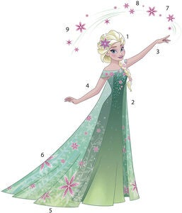 RoomMates Wallsticker Disney Frozen Fever Elsa