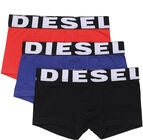 Diesel UMBX Shawn Boxershorts 3-Pack, Black/Bluette/Red