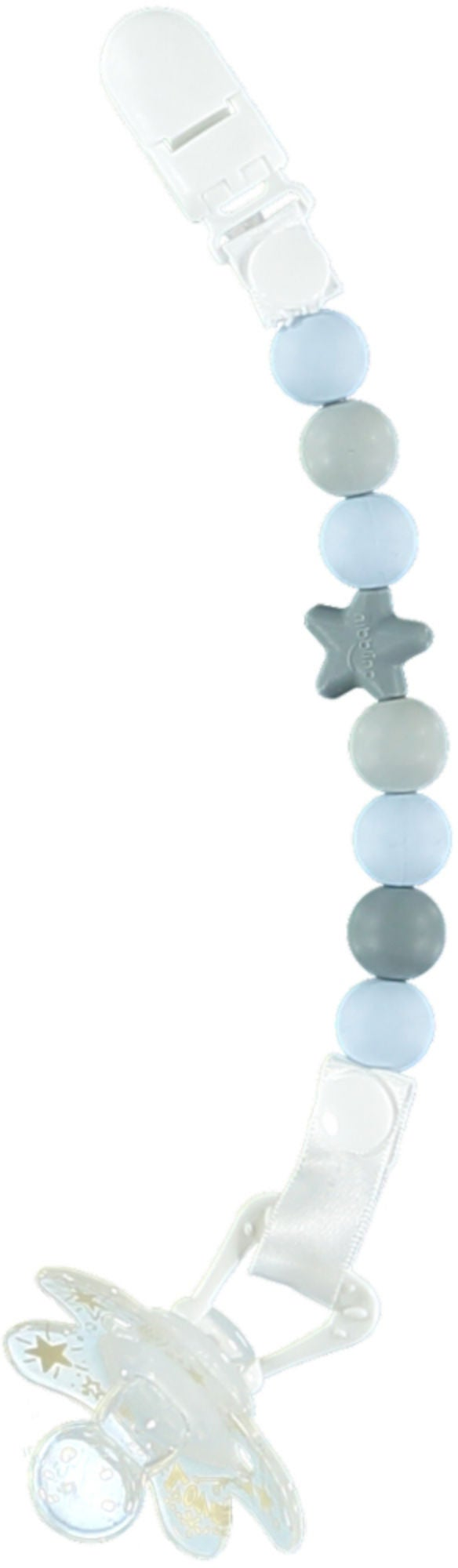 Nibbling Comet Napphållare med Adapter, Baby Blue/Grey