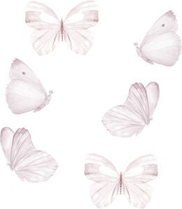 That's Mine Wallsticker Butterfly 6-pack, White