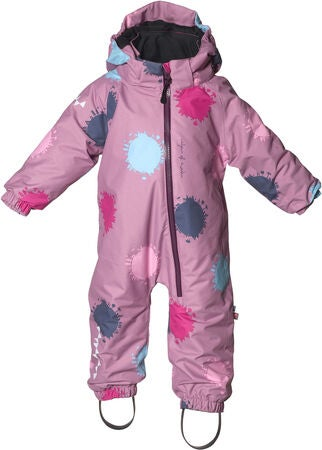Isbjörn Toddler Overall, Dusty Pink Globe