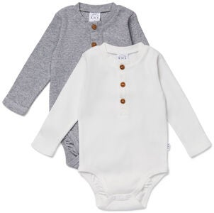 Luca & Lola Roberto Body 2-pack, Grey