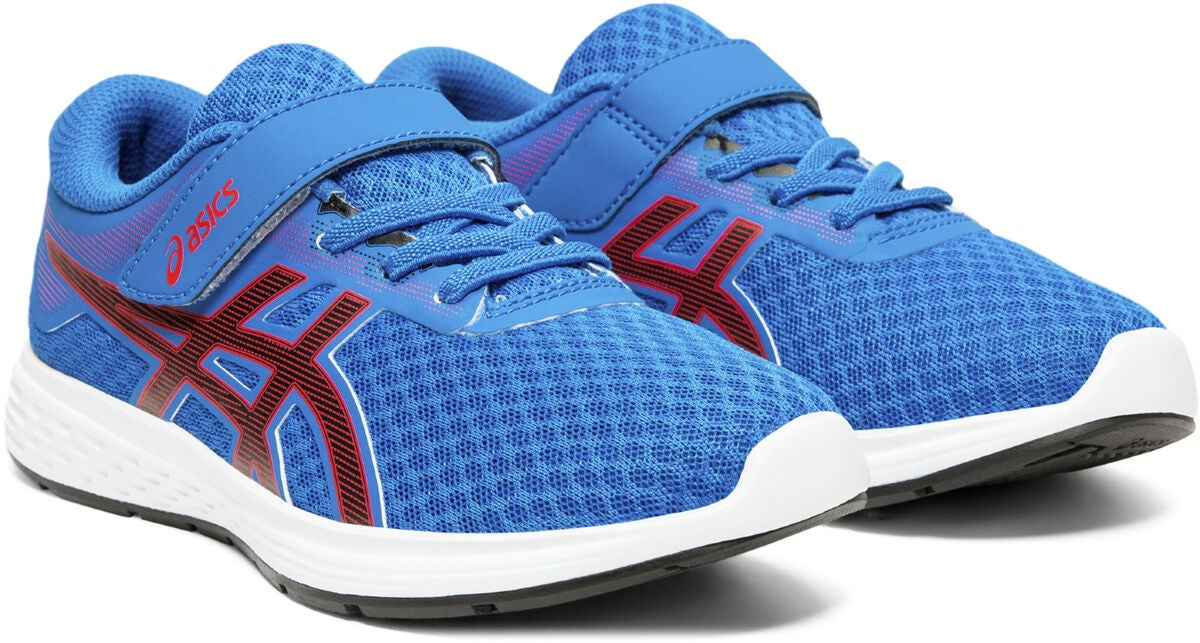 Asics Patriot 11 PS Sneaker, Electric Blue/PSeed Red