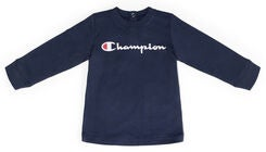 Champion Kids Långärmad Crewneck T-Shirt, Black Iris
