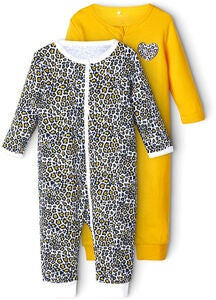 Name it Animal Pyjamas 2-Pack, Golden Rod