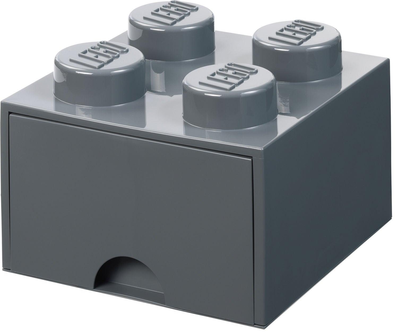 LEGO Förvaring med låda 4, Dark Grey