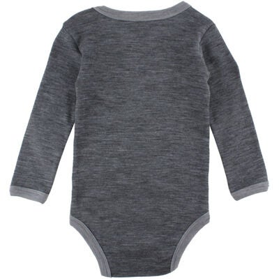 Small Rags Body Långärmad Valdo, Grey Medium Melange