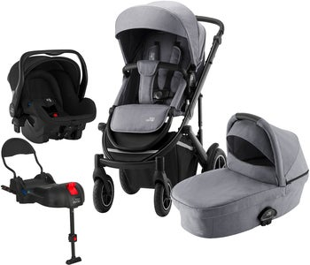 Britax Smile III Duovagn Inkl Primo Travelsystem, Frost Grey Black