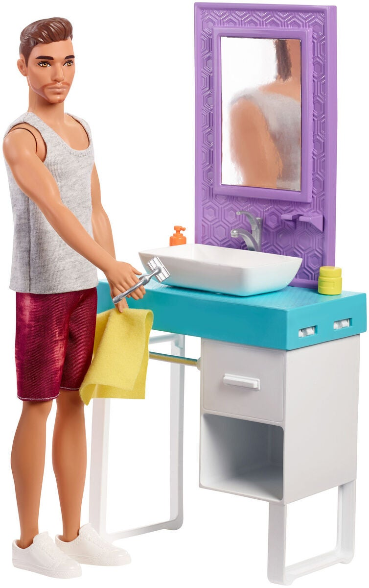Barbie Docka Ken Shaving Bathroom