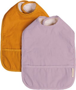 FILIBABBA Haklapp med Velcro 2-Pack, Golden Mustard/Light Lavender