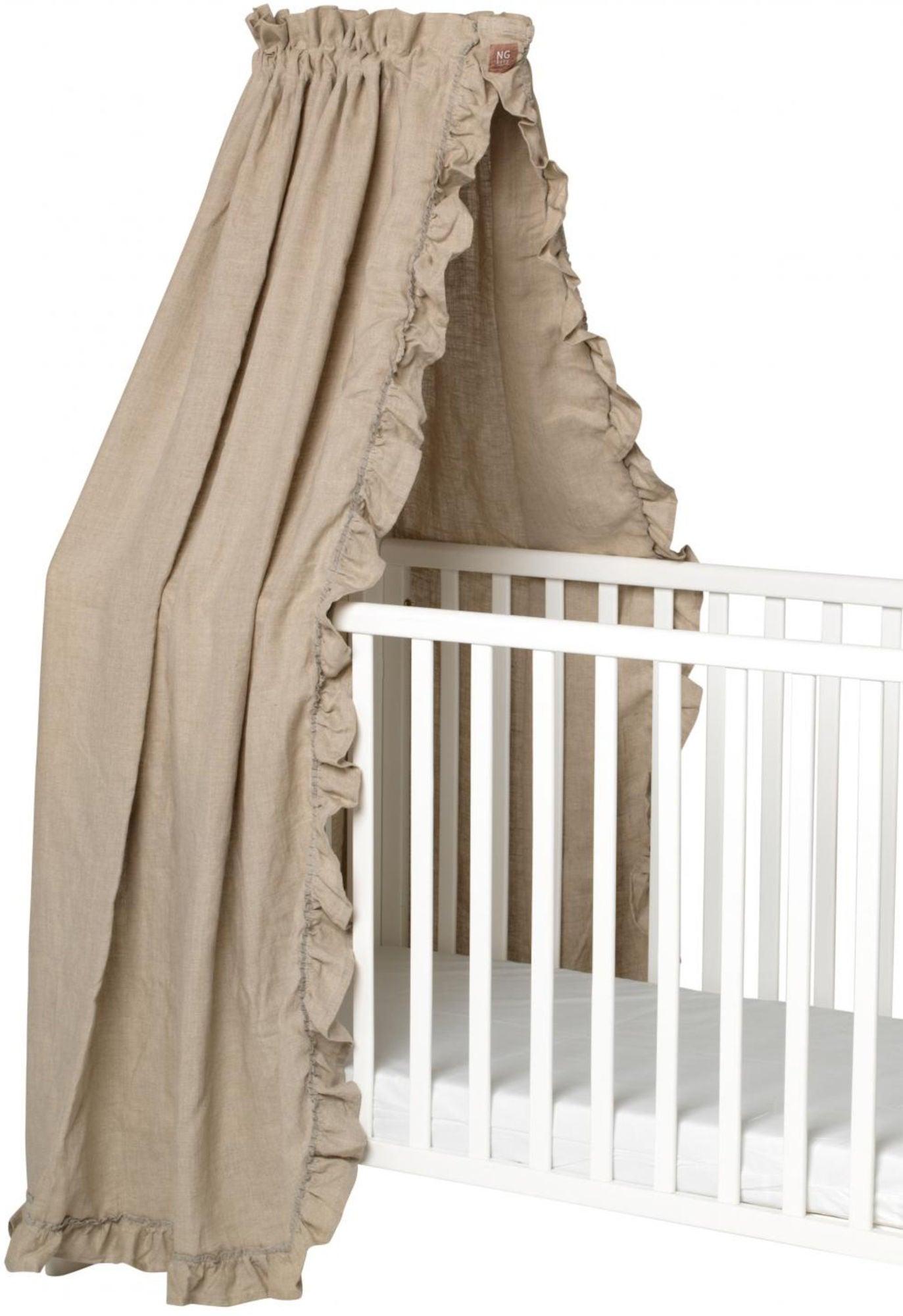 NG Baby Sänghimmel Mood Ruffles, Natur