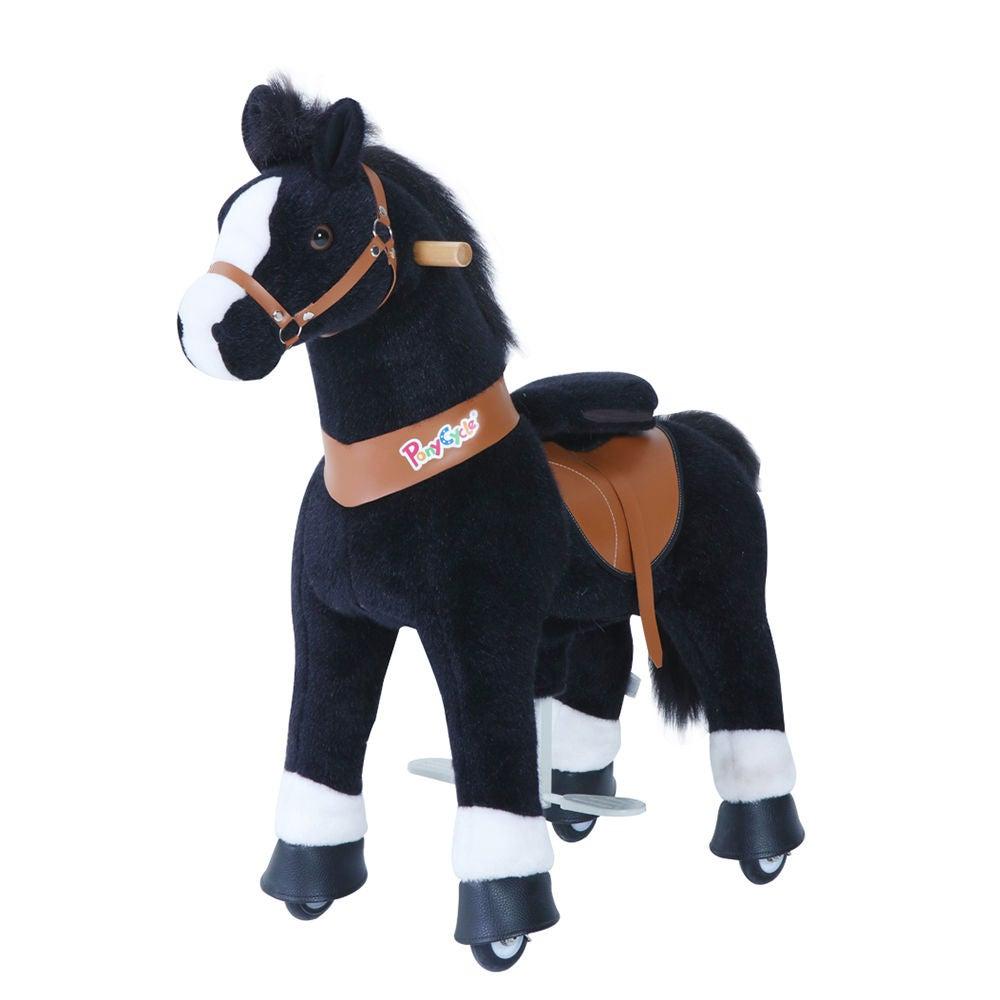 PonyCycle Ride-On Häst, Svart/Vit