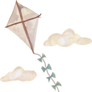 That's Mine Wallsticker Kite Small, Beige
