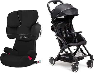 Cybex Solution X2-Fix Silver Line Resepaket Beemoo Easy Fly Sulky, Black