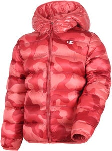 Champion Kids Hooded Vinterjacka, Mineral Red