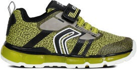 Geox Android Sneaker, Lime/Black