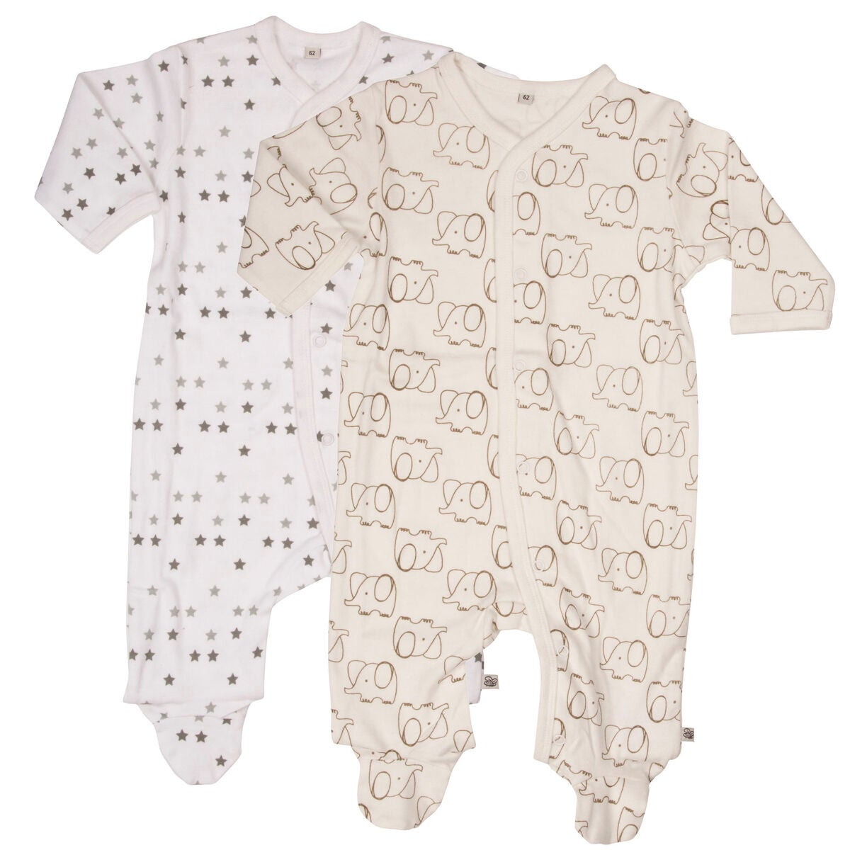 Pippi Pyjamas 2-Pack Off White