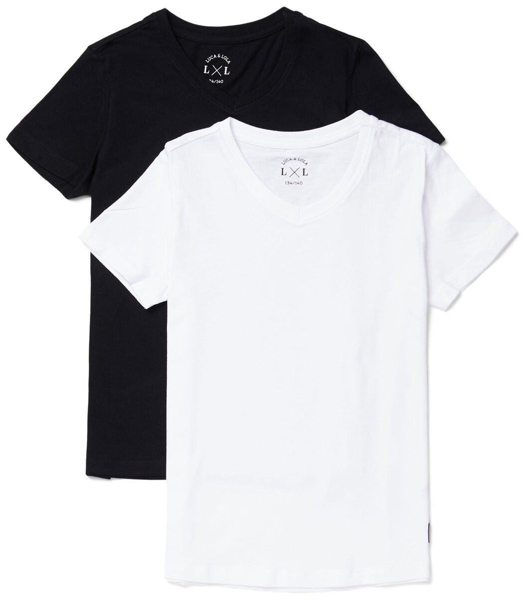 Luca & Lola Desiderio T-Shirt 2-pack, Black/White