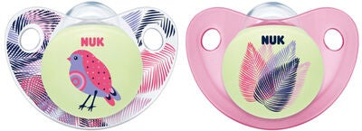 NUK Napp Night & Day Silikon Stl.2 Rosa