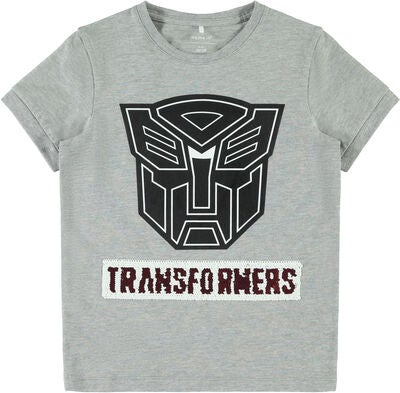 Name it Transformers Theo T-Shirt, Grey Melange
