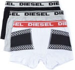 Diesel Ussy 3-Pack Kalsong, White Printed /Black/Light Grey Melange