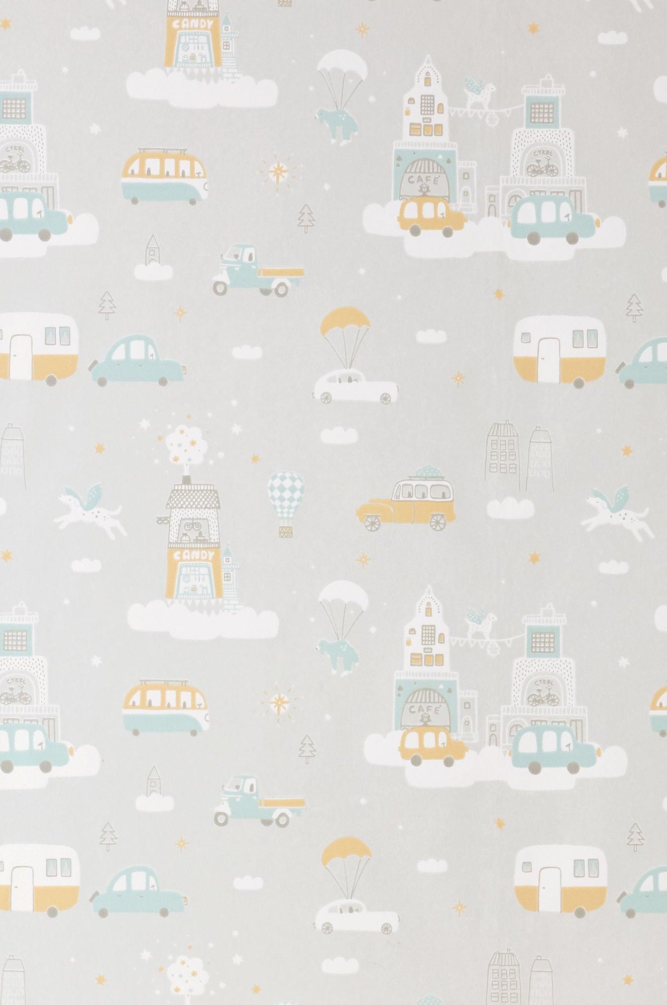 Majvillan Tapet Above The Clouds, Soft Grey