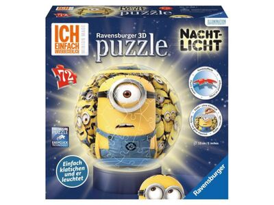 Minions 3D Pussel Lampa