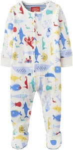 Tom Joule Babygrow, Cream Sea