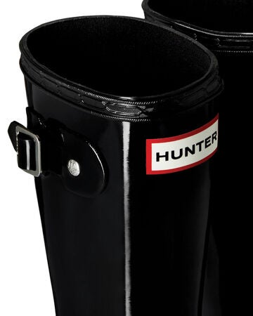 Hunter Original Kids Gloss Gummistövel, Black