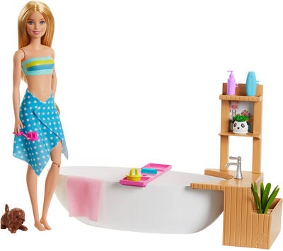 Barbie Wellness Docka Bathtub